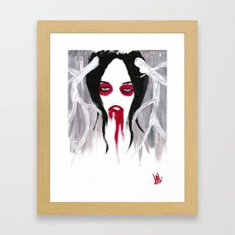 La Fille aux Cercles Rouges II Framed Art Print