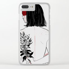 When her petals fall, they hit like bullets. Clear iPhone Case