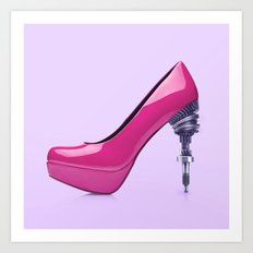 MECHANICAL HIGH HEEL Art Print