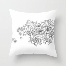 Bouquet (fraction) Throw Pillow