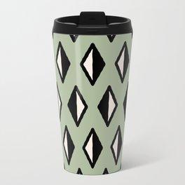 Diamond Pattern Green Travel Mug