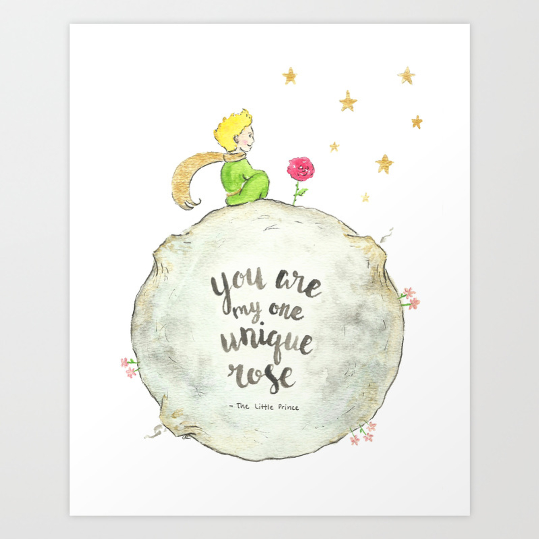 Little Prince Love Quotes Childrens And Thelittleprince Art Prints  Society6