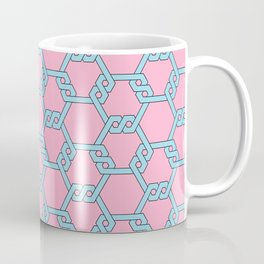 Blue-Red Freeman Lattice Coffee Mug