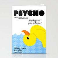 psycho Stationery Cards featuring Psycho by Chá de Polpa