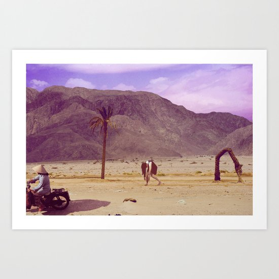 Back to nature with my cart...wait - there is no fuel?/Or: The Death of Land Art Print