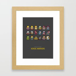 Mega MotU: Heroic Warriors Framed Art Print