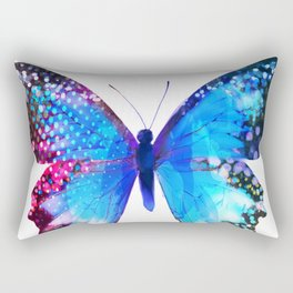 Big Blue Butterfly Rectangular Pillow