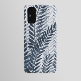 Blue Leaves Watercolor Android Case