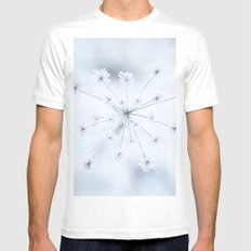 Beautiful Dry Flower with Ice Crystals MEDIUM White Mens Fitted Tee