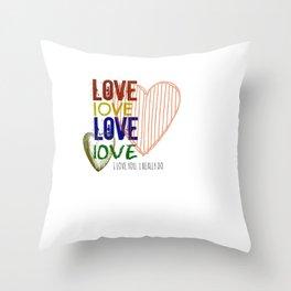 I Love U Throw Pillow
