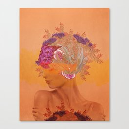 Woman in flowers III Canvas Print