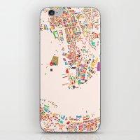hong kong iPhone & iPod Skins featuring Hong Kong by Maps Factory