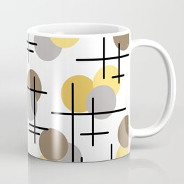 Atomic Age Molecules 4 Yellow Gold Brown Coffee Mug