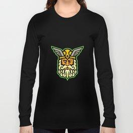 Odin Norse God Mascot Long Sleeve T-shirt