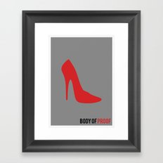 Body of Proof - Minimalist Framed Art Print