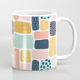 Abstract doodle shapes pattern Coffee Mug