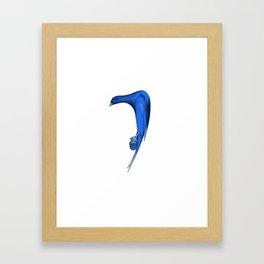 Bird in blue Framed Art Print