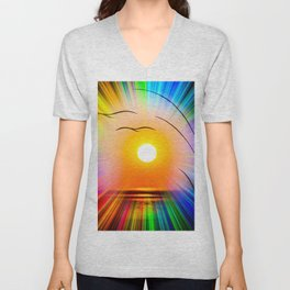 Sunset abstract Unisex V-Neck