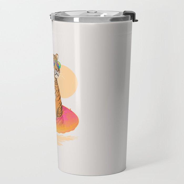 Chillin (Flamingo Tiger) Travel Mug