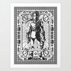 Legend of Zelda - Epic Link Vintage Geek Line Artly Art Print