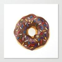 doughnut Canvas Prints featuring Doughnut by L.A.G.
