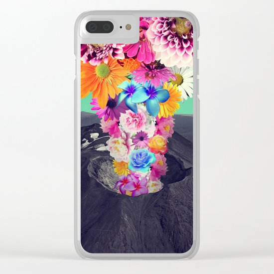 Volcano flower Clear iPhone Case