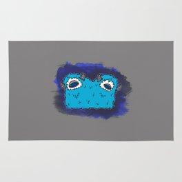 Blue Two-Headed Monster Rug