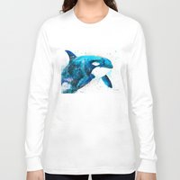 orca Long Sleeve T-shirts featuring Orca  by Slaveika Aladjova