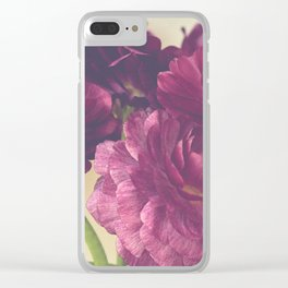 Romantic Ranunculus Clear iPhone Case