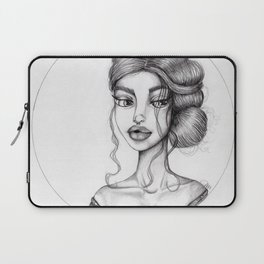 JennyMannoArt Graphite Drawing/Nora Laptop Sleeve