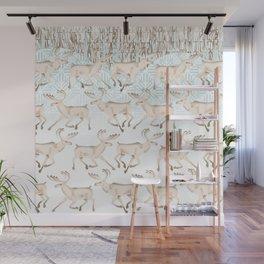 White reindeer  Wall Mural