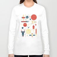 stickers Long Sleeve T-shirts featuring Space Odyssey by Tracie Andrews