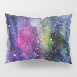 Galaxy Watercolor Night Sky Painting Nebula Art Pillow Sham