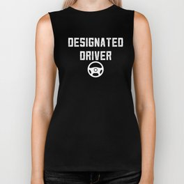 Designated Driver DD Sober Ride Party Drinking Biker Tank