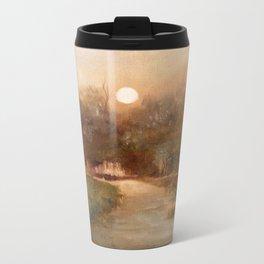 Impressionist Landscape Oil Painting Metal Travel Mug
