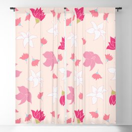 Summer Flowers - pink color palette Blackout Curtain