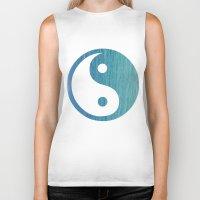 yin yang Biker Tanks featuring Yin Yang by shans