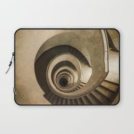 Spiral staircase in brown tones Laptop Sleeve