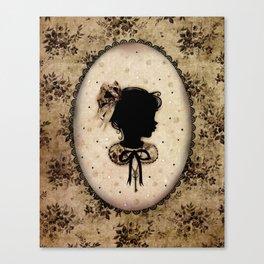 Miss Shadow - Vanilla Canvas Print