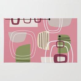 Pink Mid Century Modern Rug