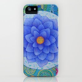 Violet Flower Mandala iPhone Case