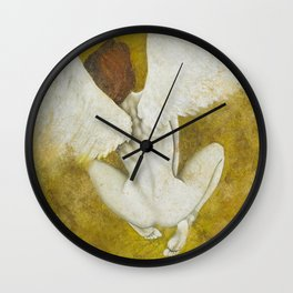 The Gold  Angel Wall Clock