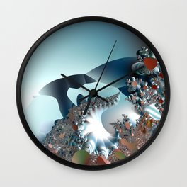 On the Edge of a Fantasy Landscape -- fractal art by Twigisle at Society6 Wall Clock