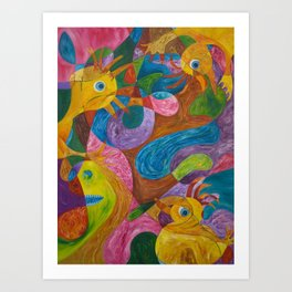 Duckies of the 8th Dimension Art Print