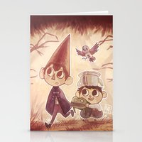 over the garden wall Stationery Cards featuring Over the Garden Wall by Keikilani