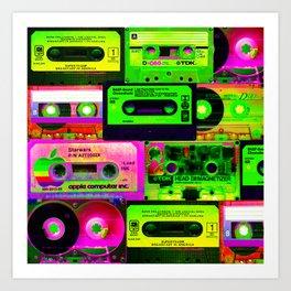 Cassetes Art Print