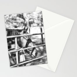 Horse waiting for a feed Stationery Cards