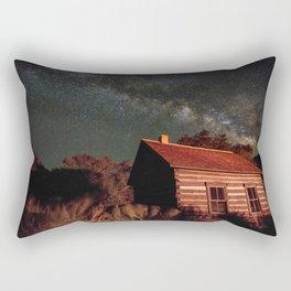 Fruita Schoolhouse and Milky Way Galaxy Rectangular Pillow