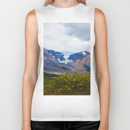 Athabasca Glacier in Jasper National Park, Canada Biker Tank