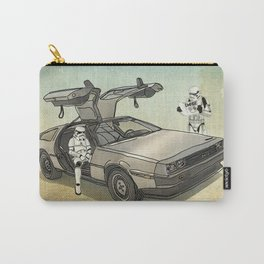 Lost, searching for the DeathStarr _ 2 Stormtrooopers in a DeLorean  Carry-All Pouch